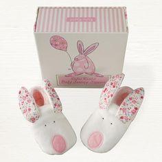 Rufus Rabbit Baby Slippers Girl | My Newborn Gifts