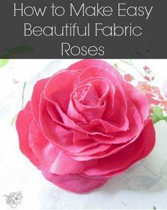 Comment faire Facile Roses Belle tissu