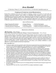 Marketing Communications Resume Example  I Need A Job