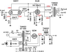 300B tube single-ended Class A amplifier circuit diagram