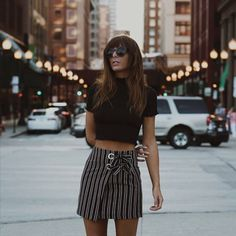 "617 Likes, 3 Comments - Urban Outfitters Chicago (@uochicago) on Instagram: ""Exploring the city via @emsimsy Shop the UO Grommet-Tie Wrap Mini Skirt SKU#43881069 #uoonyou :…"""