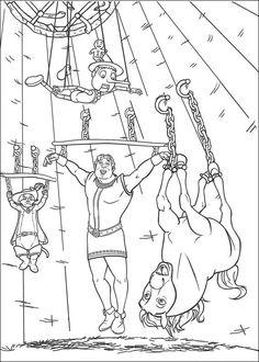Shrek Tegninger til Farvelægning. Printbare Farvelægning for børn. Tegninger til udskriv og farve nº 64