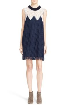 Sea Sleeveless Cotton Lace Dress available at #Nordstrom
