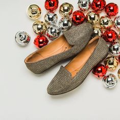 BELDEN in Gold-Satin Gold. A classic silhouette with a touch of shine, perfect for the holidays!