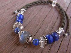 labradrite & lapis lazuli bracelet