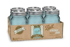 Pretty Jars for Fermenting Cultured Veggies!  Ball Jar Heritage Collection Pint Jars with Lids and Bands, Set of 6
