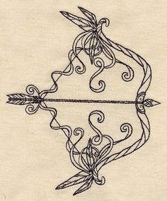 Bow and Arrow | Urban Threads: Unique and Awesome Embroidery Designs