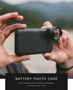 The World's First Battery Case, Photo Case, and Cinema Wide Lens for iPhone 7 and 7+ photography.