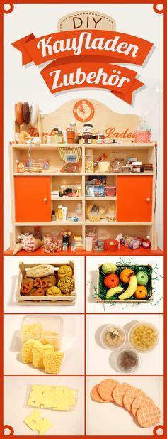 Kaufladenzubehör DIY | Spielzeug für den Verkaufstresen in kindgerechter Form
