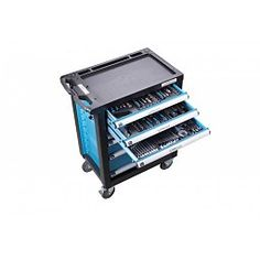 Stahlmayer Gereedschapwagen inclusief 5 laden gereedschappen BLAUW
