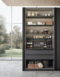 Browse the latest updates for kitchens, bedrooms and bathrooms for uber cool inspiration - Design della cucina Kitchens And Bedrooms, Home Kitchens, Small Kitchens, Canto Bar, Bulthaup Kitchen, Kitchen Larder, Kitchen Doors, Kitchen Storage, Kitchen Island