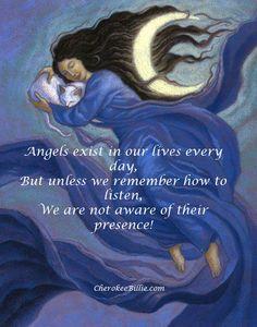 angel cat moon