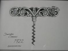 Cork screw by Claire Fury Sister Tattoos, New Tattoos, Girl Tattoos, Tatoos, Future Tattoos, 2016 Tattoo, Tattoo You, Wine Craft, Wine Cork Crafts