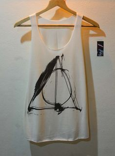 Deathly Hallows Normal Symbol Sign Harry Potter Shirt Tank Top Vest Ladies Small Large via Etsy