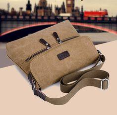 Herren Canvas Schultertasche Umhängetasche Schultasche Messenger Bag Sport