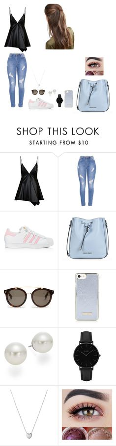 """Untitled #57"" by martaalmeida-i on Polyvore featuring Valentino, adidas, Armani Jeans, STELLA McCARTNEY, AK Anne Klein, CLUSE, Links of London and DesignB London"