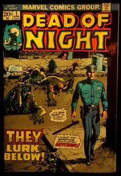 DEAD OF NIGHT (Series Began Issue comics in Very Fine condition. Published by Marvel. Very Fine - An excellent copy with outstanding eye appeal. Scary Comics, Sci Fi Comics, Fantasy Comics, Horror Comics, Comic Book Artists, Comic Books Art, The Frankenstein, Horror Themes, Horror Monsters