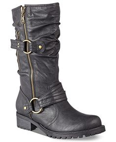 I had these on the other day.  G by GUESS Women's Shoes, Youski Booties - Shoes - Macy's