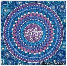 Dream Mandala by Elspeth McLean #dream #mandala #dreamy #elspethmclean #stars #colourful #wanderlust