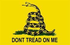 WHOLESALE LOT OF 20 GADSDEN DON/'T TREAD ON ME FLAG STICKERS Tea Party Trump $ US