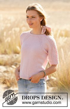 Ravelry: Spring Surrender pattern by DROPS design Drops Design, Sweater Knitting Patterns, Knitting Designs, Knit Patterns, Knitting Tutorials, Summer Knitting, Free Knitting, Bolero Pattern, Paris Model