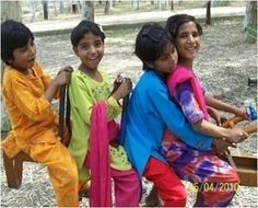 Orphaned girls from Abba Home enjoying a day out. We have supported this home and their 26 children since 2006.