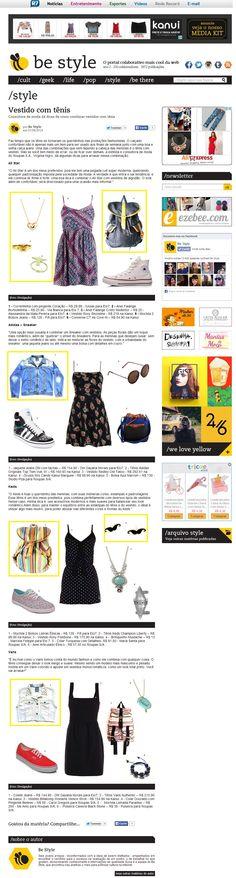 Oito produtos da Elo7 foram publicados no Portal Be Style, em matéria sobre como combinar tênis com vestido.