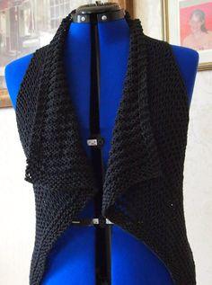Oh So Easy Vest PDF Hand Knitting Pattern