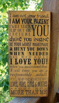 Parents Message to Children Primitive Rustic by AmericasFrontPorch, $40.00