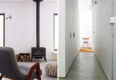 chalet-in-canada-sala-relax-con-stufa-e-corridoio-bianco