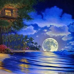 everyday a different color, beautiful gifs, soft goth, nature. images that I like and attract my attention. I hope you'll find images here for your taste too. HAVE FUN ! 3d Fantasy, Fantasy Places, Fantasy World, Fantasy Fairies, Fantasy House, Fantasy Landscape, Beautiful Moon, Beautiful Images, Beautiful Scenery