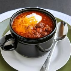 This sassy steak chili is both sweet & spicy.  It's also an award winning chili thanks to it's bold flavors & tender pieces of steak.