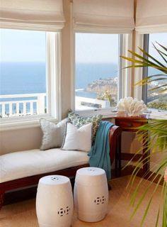 Coastal....window treatments... window with a view