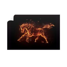 Equestrian Art - Fire Horse - Horizontal Wall Decals