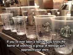 A Barista's Worst Nightmare (I've actually been a barista & this is true!)