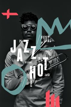 Jazz Hot Festival #type #layout #colour