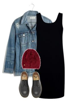 """""""Untitled #1716"""" by sully99 ❤ liked on Polyvore featuring Madewell, Être Cécile, Dr. Martens and Billabong"""