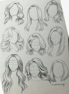 hair sketch ~ hair sketch & hair sketch tutorial & hair sketch easy & hair sketches girl & hair sketch tutorial step by step & hair sketch male & hair sketch anime & hair sketching Girl Hair Drawing, Girl Drawing Sketches, Art Drawings Sketches Simple, Pencil Art Drawings, Drawing Tips, Easy Drawings, Drawing Ideas, Tattoo Sketches, Drawings Of Hair