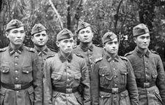 Volunteer freiwillige troops of the Nazi Turkestan Legion in France, 1943