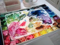 "Excellent detailed explanation of her process from drawing to complete painting.  - Step-by-Step Watercolor Painting: ""My Own Sweet Time"" - Leslie Fehling - blog Everyday Artist"