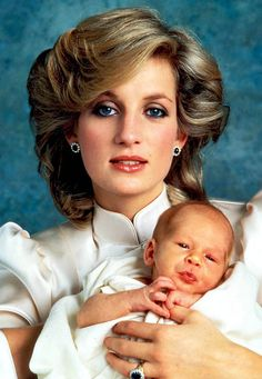 dianaspot:  Princess Diana with son Harry. 1984.