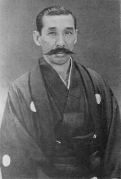 "Nakayama Hakudō (中山 博道?, February 11, 1872 - December 14, 1958), also known as Nakayama Hiromichi, ""Kendo no Kamisama"" (God of Kendo), was the founder of Musō Shinden-ryū. Only person jūdan (10th degree) and hanshi (master instructor) ranks in kendō, iaidō and jōdō from the AJKF. He held instructor's license in Shintō Musō-ryū and Menkyo kaiden in Shindō Munen-ryū (making him the 7th sōke). One of the masters of the Shimomura-ha, which was called Musō Shinden Eishin-ryū, iaijutsu."