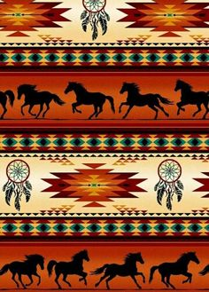 Terracotta Blanket Stripe, Horses, Tucson, Elizabeth's Studios (By Half Yard) Native American Decor, Native American Patterns, Indian Patterns, Native American Indians, Native American Artwork, Southwestern Quilts, Southwest Art, Indiana, American Wallpaper