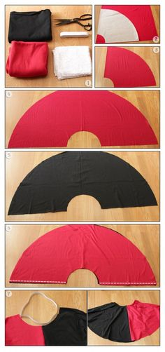 DIY:Harley Quinn ♧ Costume ,but you could do it with any other fabric colors.