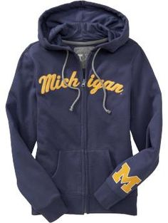 University of Michigan Zip Hoodie - i want.