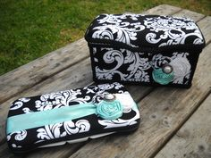 Black & White Damask Boutique Nursery Baby Wipes Case Tub Set. inspired me for a babies room