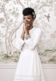 The Walking Dead star Sonequa Martin-Green in Oasis photographed by Squire Fox for Good Housekeeping, November 2015.