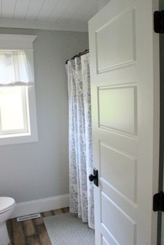 We planked the ceilings in the bathroom, hallway, and laundry room.  I'm still jealous!