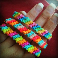 basic bracelet made with wide, plastic string #neon