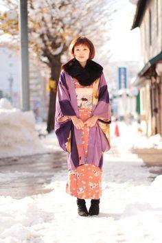 winter kimono outfit